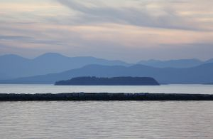Line of Burlington Breakwater